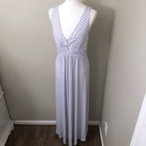 Soft Surroundings Blue Maxi dress with bra size L